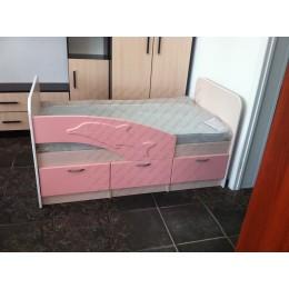 Детская кровать  Дельфин 1,6 розовый