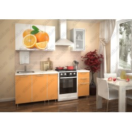 Кухня Апельсин-оранж 1,5 м