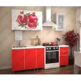 Кухня Гранат-красный 1,5 м