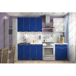 Кухня Радуга 1,8 м Синяя