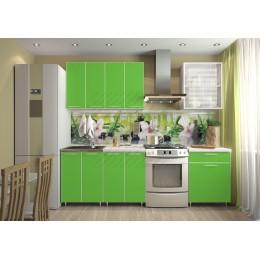 Кухня Радуга 1,8 м Зеленая мамба