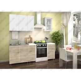 Кухня Радуга белый/сонома 1,5 м